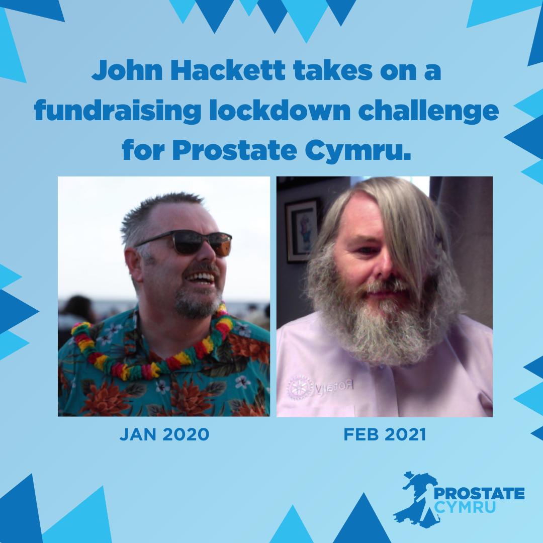 John Hackett takes on a fundraising lockdown challenge for Prostate Cymru.