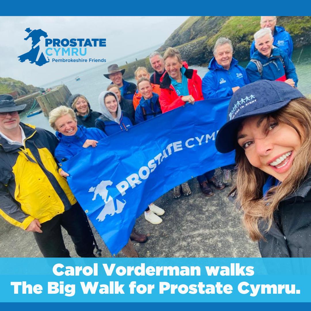 Carol Vorderman walks the Big Walk for Prostate Cymru.