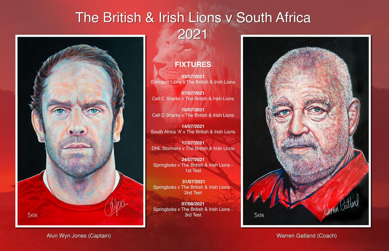 Prostate Cymru are pleased to announce that Welsh artist Art By Skin has painted British and Irish Lions Captain, Alun Wyn Jones, and Coach, Warren Gatland, to help raise money for Prostate Cymru.